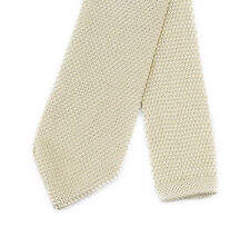 Champagne Gold Knitted Classic Tie Formal Wedding Party Standard UK Seller