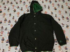 Men Vintage Vtg Starter Hoodie Windbreaker Puff Jacket Fleece Inner Large Black