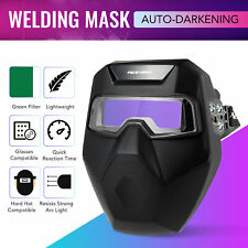 Auto Darkening Welding Helmet Detachable Goggle Pro Solar Welder Mask Li Battery