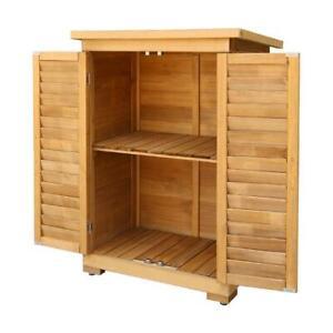 Gardeon Portable Wooden Garden Storage Cabinet