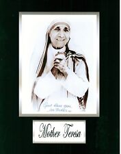 MOTHER TERESA   8 x 10 REPRINT PHOTO & REPRINT AUTOGRAPH ON GLOSSY PHOTO PAPER