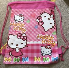 New Hello Kitty Kids Children s Draw String Swimming Shoe Bag Party Gift School