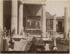 Photo Albuminé Casa Vetti Pompéï Italia Italie Vers 1880