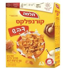 Cornflakes Honey Cereal Breakfast  By Telma Israeli Kosher Food 448g