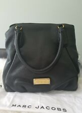 NWT MARC By MARC JACOBS Q FRAN LEATHER SATCHEL TOTE SHOULDER BAG MSRP $448 BLACK