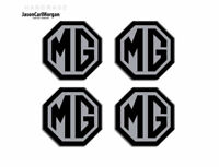 MG ZT Alloy Wheel Centre Cap Badges Black & Silver 45mm MG Logo Caps Badge Set