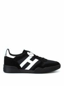 HOGAN Uomo Sneakers H357 nero suola nera SCONTO 40%