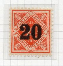 Wurttemberg 1923 December Early Issue Fine Mint Hinged 20pf. Surcharged 291082