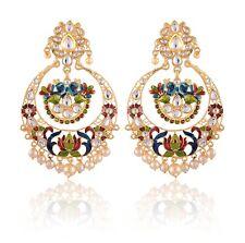 Indian Bollywood Jewelry Elegant Gold Plated Ethnic Bridal Wedding Set Earrings