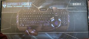 SportsBot SS301 Blue LED Computer Gaming Headset, Mouse, and Keyboard Bundle