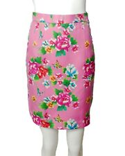 New listing Todd Oldham-1990s Pink Floral Silk Skirt, Size-4