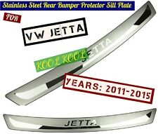 Stainless Steel Rear Bumper Protector Sill Plate for VW JETTA 2011-2015