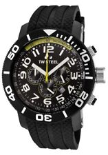 TW Steel TW75 Men's Grandeur Diver Chronograph 48mm All Black PVD Rubber Watch