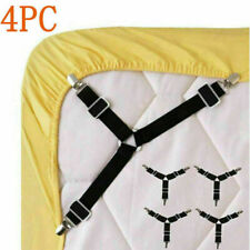 4pcs Bed Suspender Straps Mattress Fastener Holder Triangle Grippers Sheet Clip
