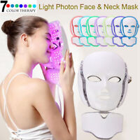 Facial Neck Mask Skin Rejuvenation LED Photon Therapy Device Anti Aging Wrinkle