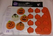 Wilton Halloween 24 Bite-Size Pumpkins Silicone Pan-Mold-Treats-Brownies Candy