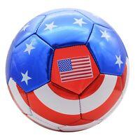 USA Soccer Ball w/ American Flag Official Size No. 5 (WHOLESALE BULK LOT OPTION)