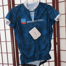 NWT Primal M Racecut Cycling Bike Jersey Short Sleeve Zip Front Blue White  Women a6ce8eb93