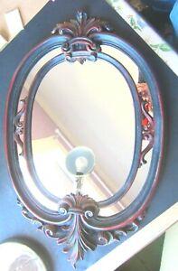 Euromarchi Italy Rococo Regency Resin Mirror Antique Reproduction Circa 1980's