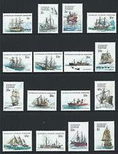 1979-81 Australian Antarctic Territory (AAT) Ships Set MNH (SG 37-52)