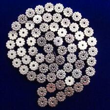 CG2189 Carved Silver Hematite Gemstone Gear Loose Bead 15.5 inch 6x2mm