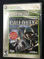 Call of Duty 2 ( Special Edition Platinum Hits Xbox 360 2005 ) Include bouns DVD
