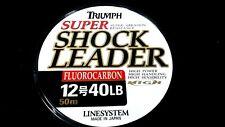 Fluorocarbon Leader LINESYSTEM super shock leader 40 lb 50meter spool japan