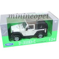 WELLY 22489 2007 JEEP WRANGLER 1/24 DIECAST MODEL CAR WHITE