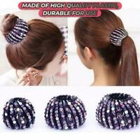 Crystal Glitter Hair Claw- Hair Tool Ponytail Women Bud Maker Glitter Clamps