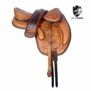 Treeless Leather Black Saddle Freemax Saddle