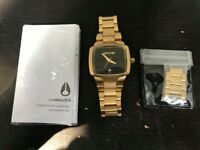Nixon A300 Small Player Ladies' Gold Stainless Steel Quartz Watch