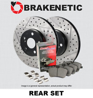 BRAKENETIC PREMIUM Drilled Slotted Brake Disc Rotors BNP34095.DS REAR SET