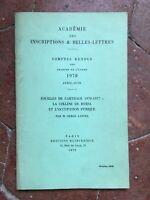 Serge Lancel Archeologici Di Cartagine 1976-77 La Hill Byrsa Occupazione Punica
