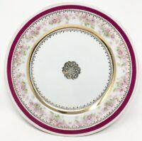 "Decorative Plate Pink Gold Floral Imperial China Austria 8.5"" Collectible Vtg"