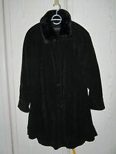 Wintermantel Wildledermantel  Damen  schwarz Barisal ca. Größe 48 ?