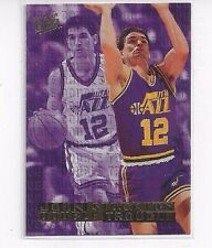 1995-96 FLEER ULTRA DOUBLE TROUBLE INSERT JOHN STOCKTON #10 OF 10 - UTAH JAZZ
