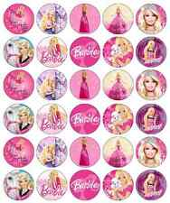 30x Barbie Cupcake Toppers Edible Wafer Paper Fairy Cake Toppers