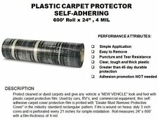 200 ft DEALER MUST REMOVE PROTECTIVE ADHESIVE AUTO/CAR FLOOR  MATS 4 MILL