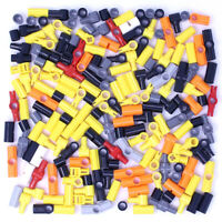 Lego 190x Genuine Technic Connectors Joints Couplers Black Red Grey Yellow - NEW