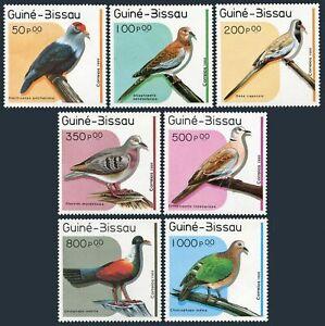 Guinea Bissau 811-817,818,MNH.Mi 1018-1024,Bl.275. 1989.Alectroenas pukcherrima