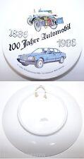 7530 Porzellan-Teller Benz Patent-Motorwagen Velo und Mercedes 190