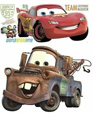 Disney Pixar CarsLightning McQueen Mater Peel and Stick Giant Wall Decal Bundle