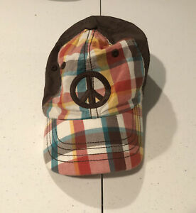 Gymboree toddler baseball hat with Peace Sign size 12-24 months