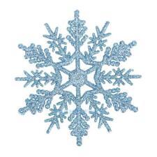 24pcs Snowflakes Decorations Christmas Tree Plastic Glitter Snow Flake Ornaments