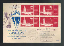1956 East Germany Ddr Kz concentration camp first day Cover to Usa Postage Due