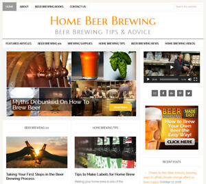 * HOMEBREWING CRAFT BEER BREWING * blog website business for sale AUTO UPDATING