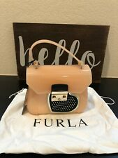 BRAND NEW FURLA JELLY MINI CANDY NUDE PINK WOMEN'S CROSSBODY BAG 764429
