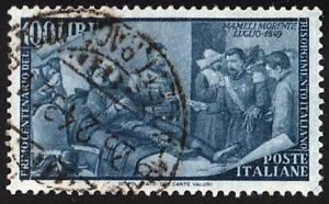 ITALY 1948 DEATH of MAMELI (100L) SC#506 used CV$22.50 MILITARY