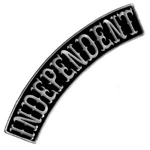 INDEPENDENT BLACK-GRAY EMBROIDERED IRON-ON PATCH BIKER VEST JACKET TOP ROCKER 13