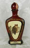 Vtg Jim Beam Kentucky Whiskey Decanter Bottle Horned Owl by J. Lockhart Empty